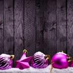 Purple Christmas decorations — Stock Photo