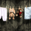 Baby boy clothes — Stock Photo