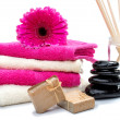 Spa still life with fragrance sticks — Stockfoto