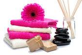 Spa still life with fragrance sticks — Stock Photo