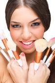 Makeup model — Stock Photo