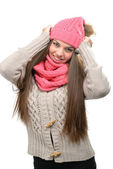 Kvinna i vinterkläder — Stockfoto