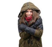 Woman in winter clothes — Stock Photo