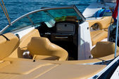 Luxury boats inside — Stock Photo