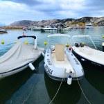 Port on the Croatian coast — Stock Photo