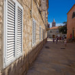 Stock Photo: Croati, Rab City narrow streets