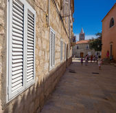 Croatia , Rab City narrow streets — Stock fotografie