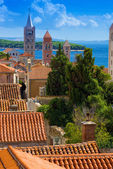 Croatia , Rab City 3 tower — Stock Photo