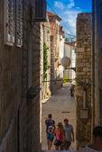 Croatia , Rab City narrow streets — Stock Photo