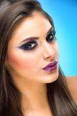 Makeup Model with extreme makeup — Stock Photo