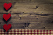 Valentines Day frame - wood background — Stock Photo
