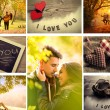 Couple in love collage — Stock Photo
