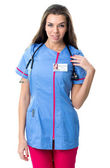 Young pretty nurse  in work clothes — Stock Photo