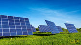 Solar Panels, beautiful, fabulous landscapes — Stock Photo