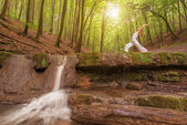 Relaxation at the waterfall — Stock Photo
