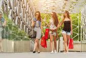 Women held shopping bags — Stock Photo