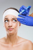 Woman with plastic surgery — Stock Photo