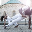 Young pair capoeira — Stock Photo #48479761