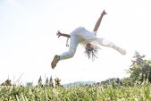Awesome stunts capoeira — Stock Photo