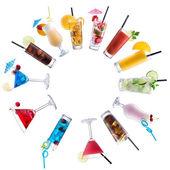Cocktail Mix paved circle — Stock Photo