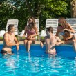 Friends having fun in pool — Stock Photo #50244961