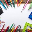 School stationery frame — Stock Photo #50810491