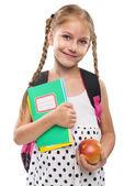 Little girl starts school — Stock Photo