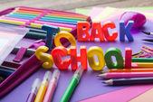 Many school stationer — Foto de Stock