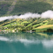 Scenic view of Nordfjord, Olden (Norway) — Stock Photo