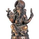 Old bronze statuette of Ganesha — Stock Photo