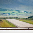 Runway of airport at Akureyri (Iceland) — Stock Photo