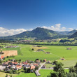 Swiss rural landscape, Gruyere (Switzerland) — Stock Photo