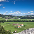 View from old castle, Gruyere (Switzerland) — Stock Photo
