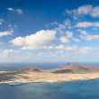 View of La Graciosa Island, Canary Islands (Spain) - Stock Photo