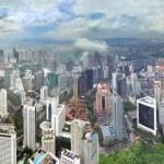 Rainy season at Kuala Lumpur (Malaysia) — Stock Photo