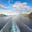 Scenic views of Storfjord (Norway) — Stock Photo