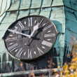Royalty-Free Stock Photo: Old clock on steeple of cathedral