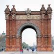 Triumphal arch, Barcelona (Spain) - Stock Photo