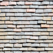 Fragment of old tiled roof — Stock Photo