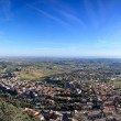 Bird's eye view of San Marino - Stock Photo
