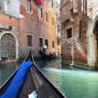 Narrow canal of old city, Venice (Italy) — Stock Photo