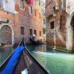 Narrow canal of old city, Venice (Italy) — Stock Photo #17602727