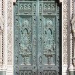 Front doors of Cathedral, Florence (Italy) — 图库照片
