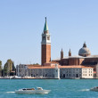 Panoramic view of San Giorgio island, Venice (Italy) — ストック写真
