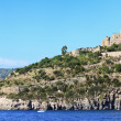 Scenic view of Aragonese castle, Ischia island (Italy) - Stock Photo