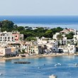 Panoramic views of popular resort, Ischia island (Italy) - Stock Photo