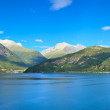Stock Photo: Scenic view of secoast, Olden (Norway)