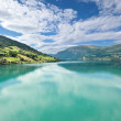 Stock Photo: Scenic view of Nordfjord, Olden (Norway)