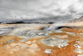 Volcanic landscape (Iceland) — Stock Photo