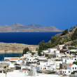 Scenic view of small town of Lindos, Rhodes Island (Greece) — Stock Photo